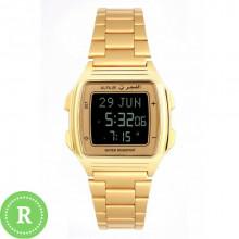Наручные женские мусульманские часы alfajr / альфаджр WP-04 G золотистые