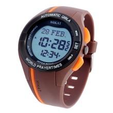 Спортивные мусульманские часы Mikat / Микат MS01 brown с компасом