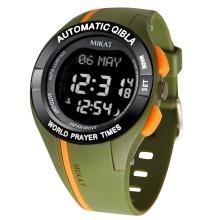 Спортивные мусульманские часы Mikat / Микат MW03 green с компасом